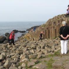 Cork, Ireland--Giant's Causeway, world famous basalt column rock formations