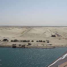 Transiting the Suez Canal on the Prinsedam
