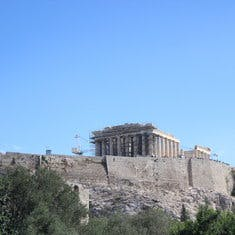 Parthenon on Acropolis Rock