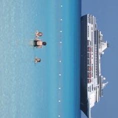 Our ship Ryndam--Half Moon Cay