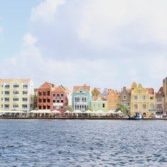 The classic Curaçao photo - brightly colored buildings in town