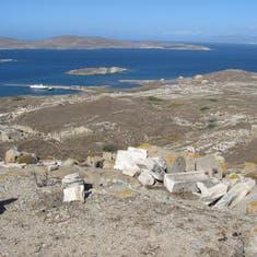 Island of Delos--Ancient ruins--Greece