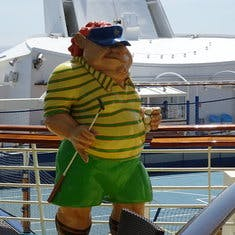 One of the characters on board
