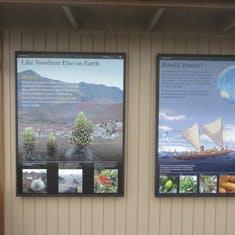 Vistor station pictures at top of Mount Haleakala