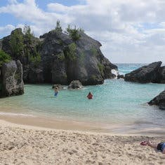 One of many coves and beaches