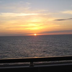 Looking west from balcony across Caribbean