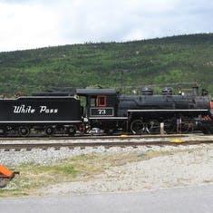 Historical locomotive (and tender) at Skagway.