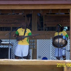 Live music on Half Moon Cay.