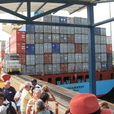 Shore excursion included tour of Gatun Locks operation