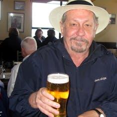Having a beer in Victoria
