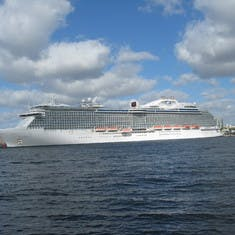 Our ship, saying goodbye @ Port Everglades